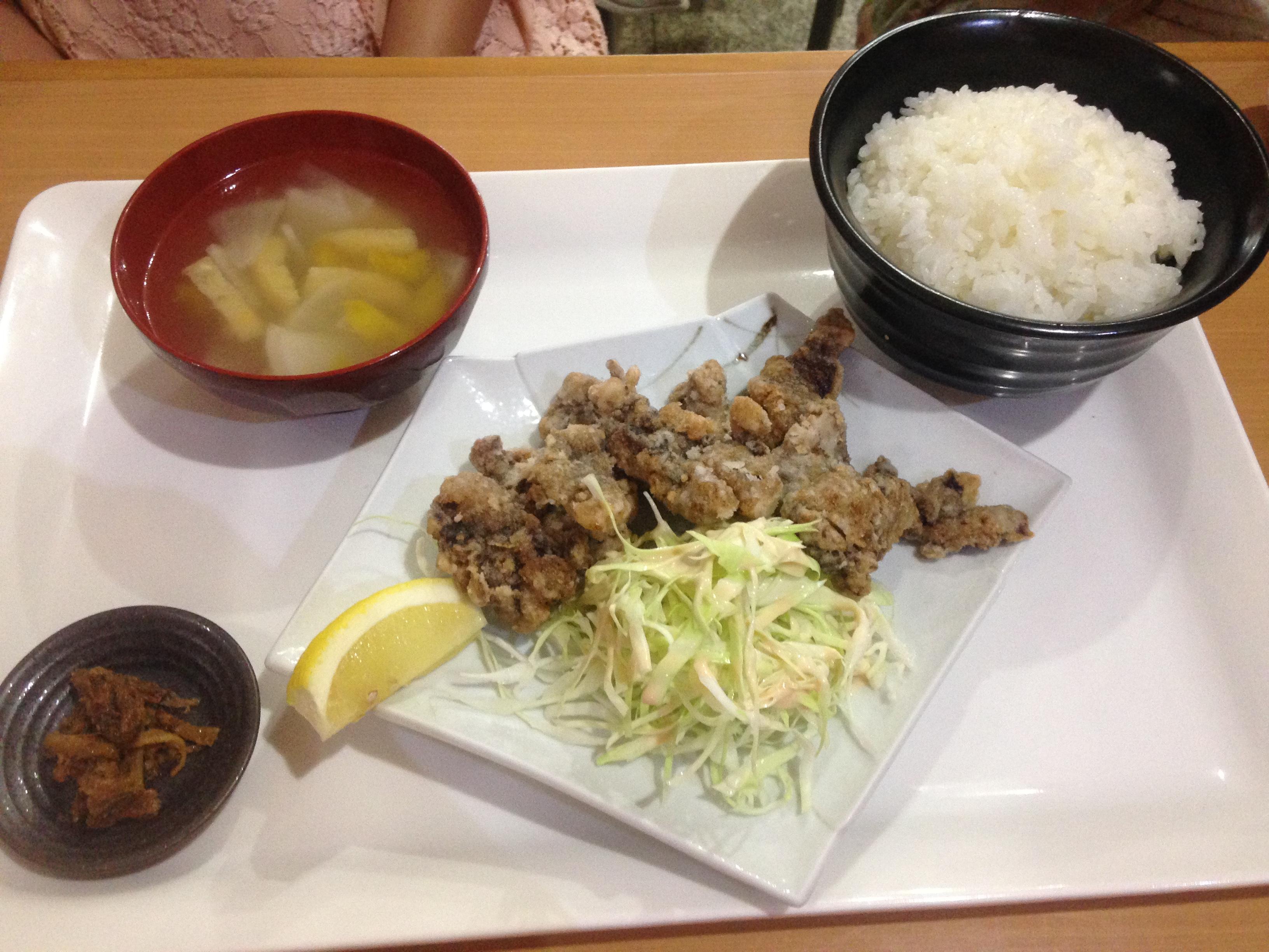 くじらの竜田揚げ定食@摂理の味
