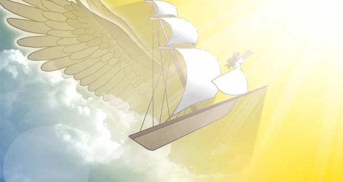 主の帆掛け船