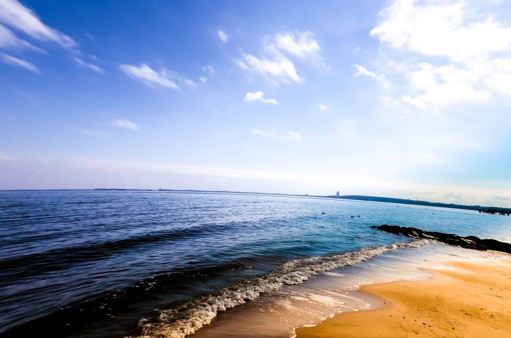 sunset waves sand sun summer beach